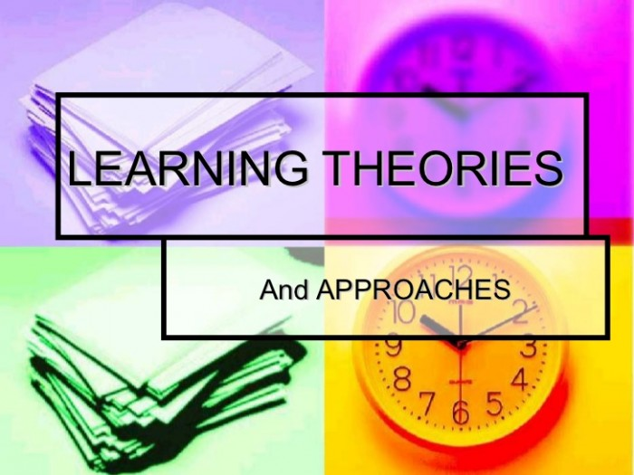 apply learning theories into activities And since the context in which the learning takes place can be dynamic and multi-dimensional, some combination of the three learning theories and perhaps others should be considered and incorporated into the instructional design process to provide optimal learning.
