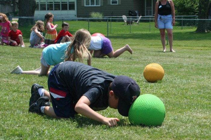 Some relay races work especially well for kids. Use one or more of