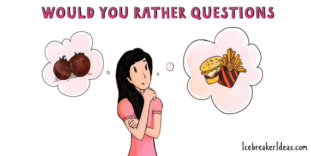 Funny Would You Rather Questions for Kids, Teens and Adults